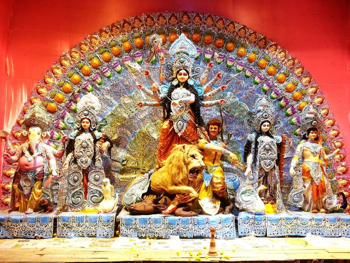 Durga Puja Photo 11 : Here is the Full Image of Goddes Durga, Her Daughter Laxmi, Sarawati and Son Ganesh and Kartik..... Goddes Durga Fight against Asura, an evil power with weapons in her ten hands... Lion is her key Warior ... Altars Durga Puja 2015 People And Culture Religion And Beliefs Religion And Faith Eyeem4photography EyeEm Gallery Tadaa Community EyeEm Best Shots EyeEmBestPics The Rule Of Thirds Snapshots Of Life EyeEm Masterclass Bengali Culture Untold Stories Indian Festival Check This Out Open Edit Hello World Enjoying Life Taking Photos at Berhampore India