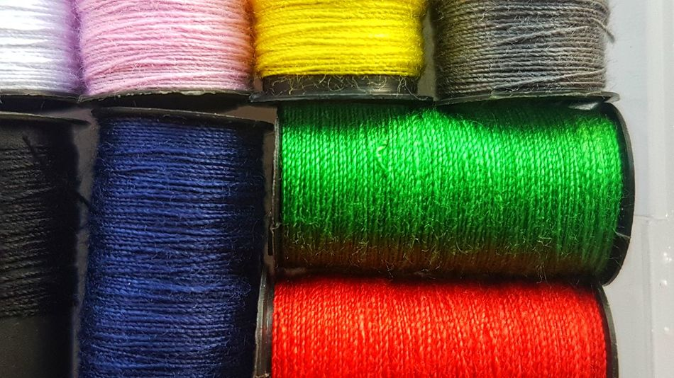Yarn Sewing Bobbin Cotton Needlework Wool Fiber String Skein Embroidery Craft Wear Stitch Roll Fashion Stylish Style Photooftheday Pattern Fabric Texture Weaving EyeEm Best Shots Multi Colored Variation Choice Textile Indoors  No People Day EyeEmNewHere