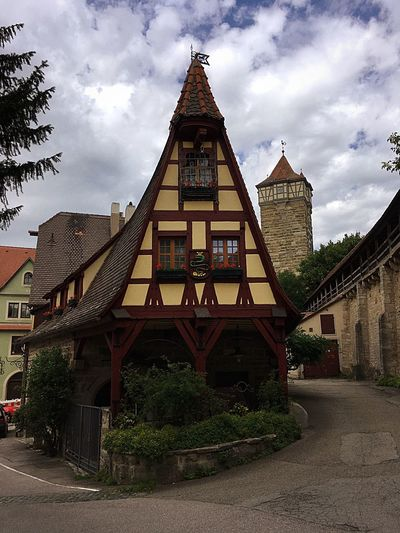 Deutschland Architecture No People Travel Destinations Rothenburg Built Structure Building Exterior Cloud - Sky Sky Outdoors Day Tree
