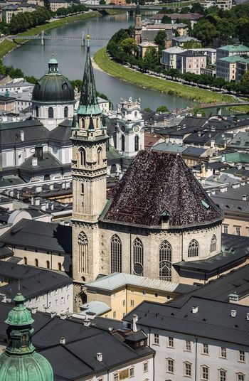 Architecture High Angle View Religion Roof Built Structure Town Building Exterior History Cityscape City Place Of Worship Travel Destinations Aerial View