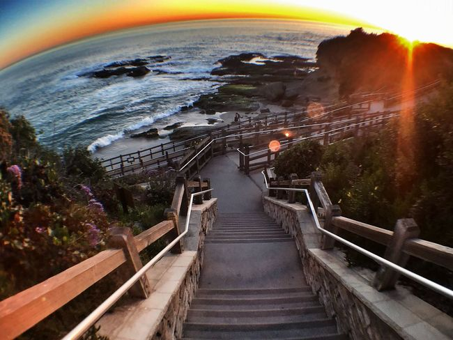 You got all the right steps... Eye4photography  California Coast Ocean Dream Life Is A Beach Nature_collection Beach Life California Sunset Sunset And Clouds  Sunset_collection Fisheye