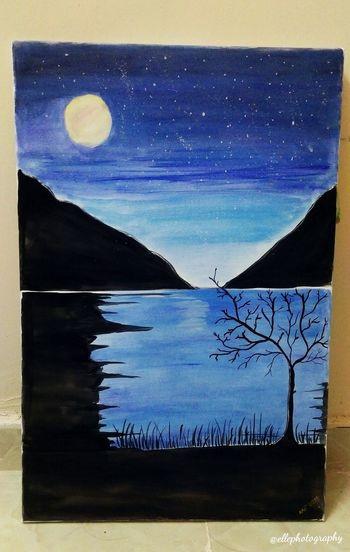 Starry night Painting EyeEm Gallery Watercolor Painting Watercolour Night Starry Night Starry Starry Night