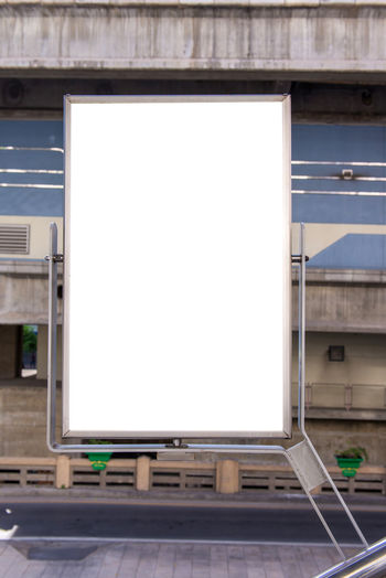 Advertisement Architecture Billboard Blank Building Exterior Built Structure Business City Copy Space Day Device Screen Empty Marketing No People Outdoors Screen Technology Wall - Building Feature White Color