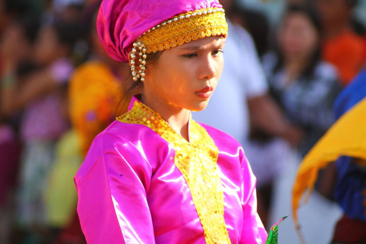 Adult Adults Only Close-up Cultural Festival Day Outdoors People People Photography People Watching Philippines Portrait Smiling South Cotabato Street Street Photography T'nalak Festival Purist In Photography Tourism Philippines Traditional Clothing Traditional Costume Traveling Filipina