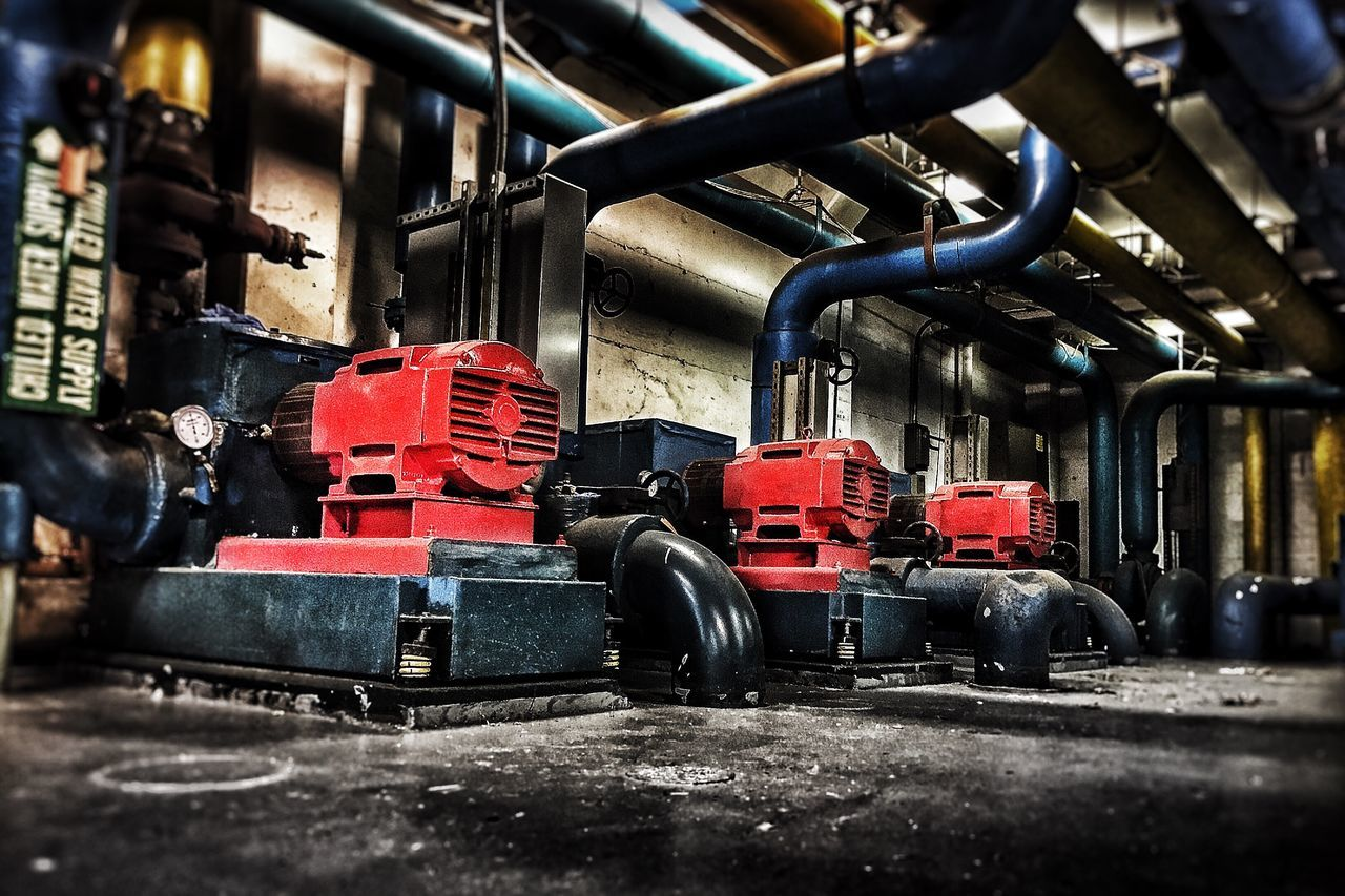 machinery, day, indoors, no people, industry, technology