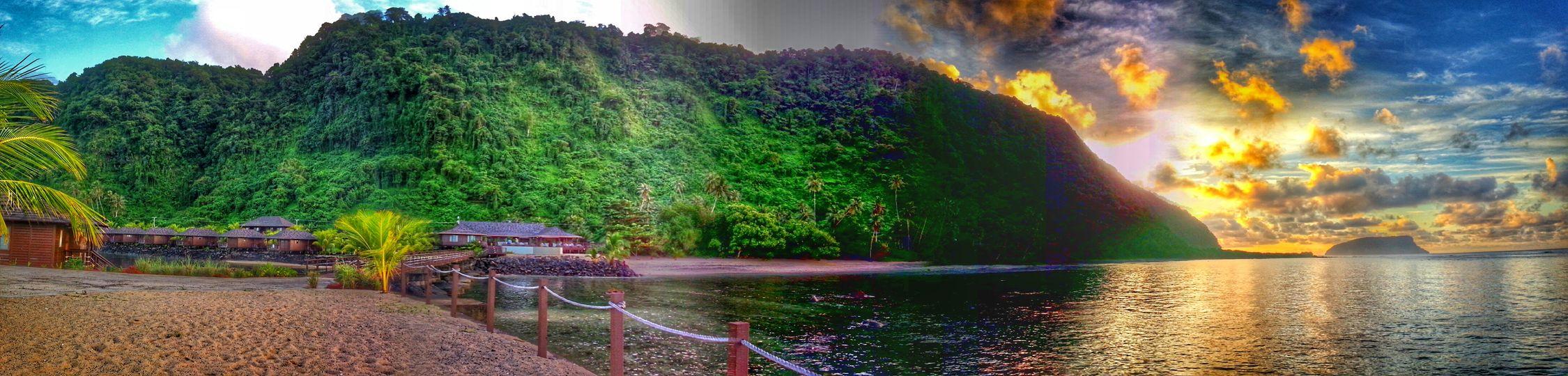 Sunrise Samoa  Clouds And Sky Enjoying Life