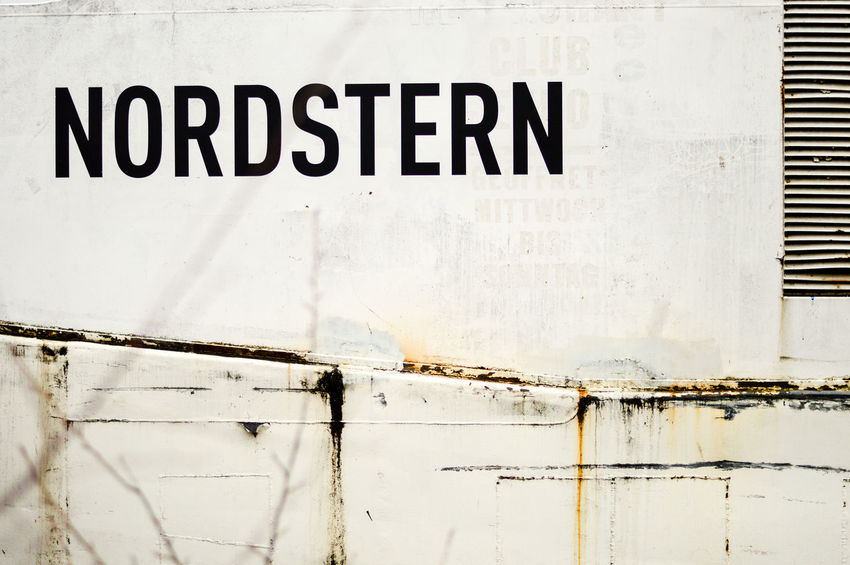 Nordstern Letters Close-up Communication Day No People Outdoors Rusty Rusty Metal Ship Details Text