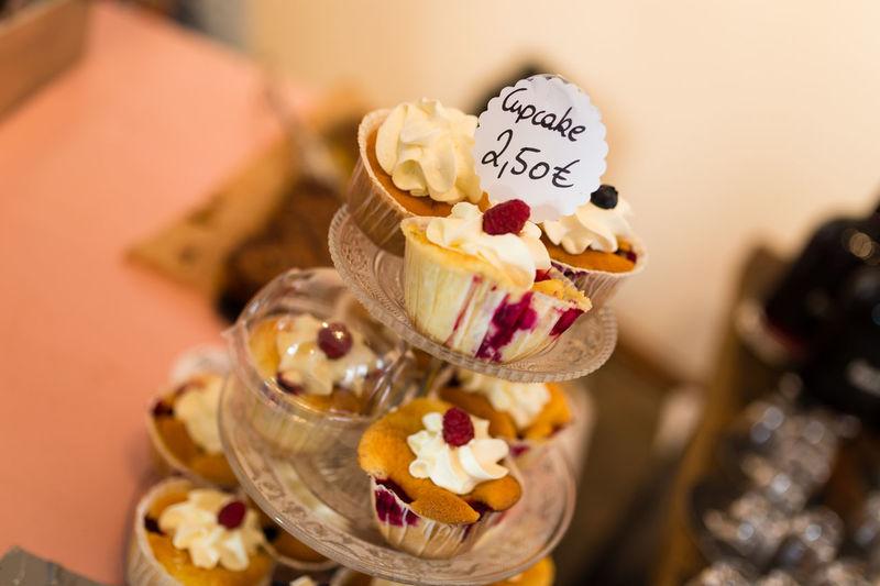 Close-up of cupcakes