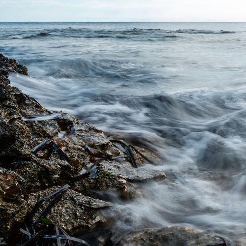Scenic view of sea against sky long exposure