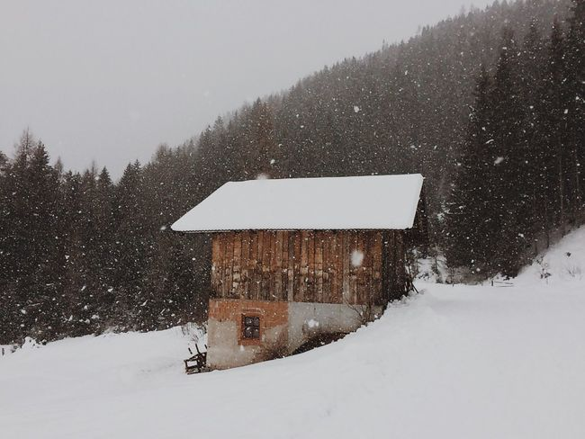 The smallest hut can offer you protection in the mountains Snow Mountainhuts Wanderlust Mountainlove Nature Snowfall Throwbackthursday  Alps Southtyrol  WeLoveNature  Hiking Hikingadventures