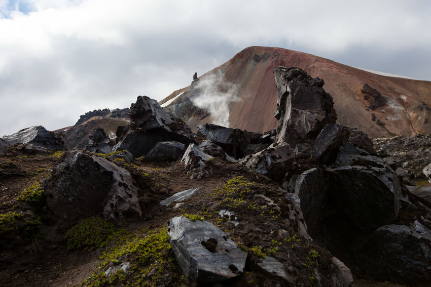 Rock - Object Landscape Nature Hrafntinnusker Laugavegur Island Iceland Eos5dmarkii Volcanic Activity Obsidian Trekking In Iceland Hiking Canon EOS 5D MkII Volcanic Landscape Canonphotography EyeEmNewHere Travel Destinations Eos5d Beauty In Nature