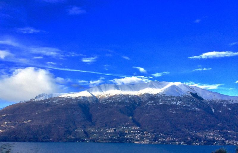 Italian Lake District Italian Lakes Northern Italy Sky - Clouds Italia Alps Alps Italy No People Italy 🇮🇹 Alps, Italia Lake Snow Mountain Shades Of Winter An Eye For Travel