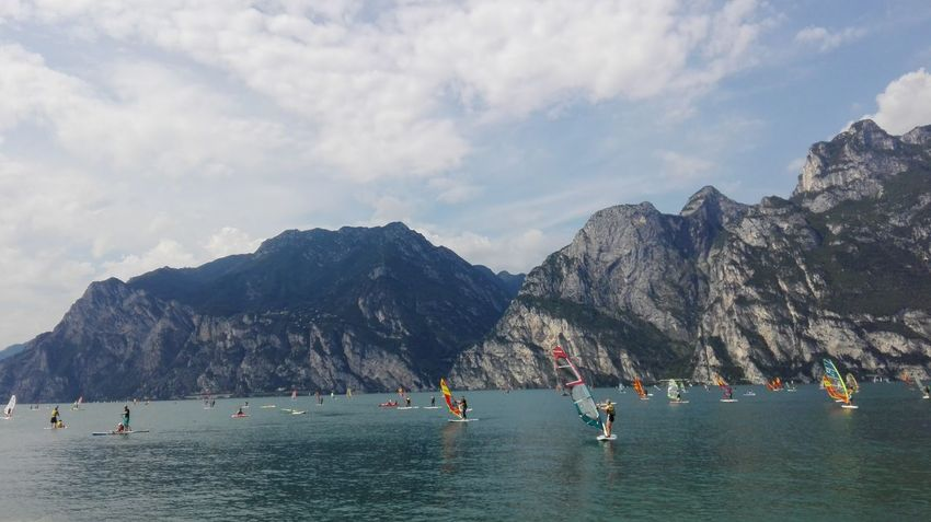 Festival Season Hello World Surfing Sports Lake No Filter No Edit Energy People Watching Water_collection Lake And Mountain Color Portrait Velas Huaweiphotography Torbole Lake Italy