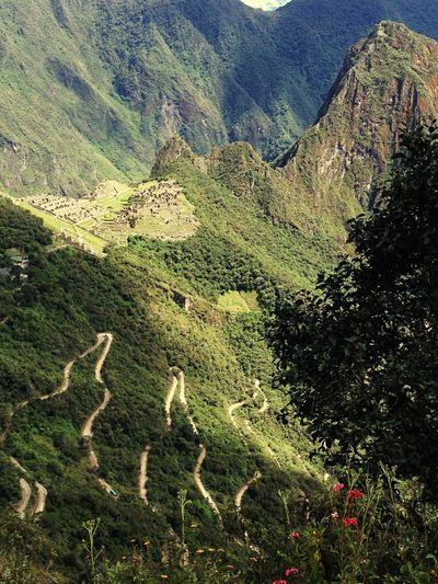 Machu Picchu Peru Machu Picchu - Peru MachuPicchu MachuPicchuPerú Huayna Picchu Huaynapicchu Chemin PÉROU Montee Road Road To Machu Picchu Inca Inca Trail Inca Ruins