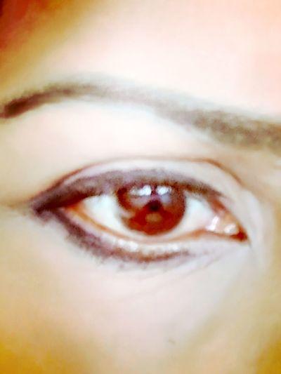 red brown eye