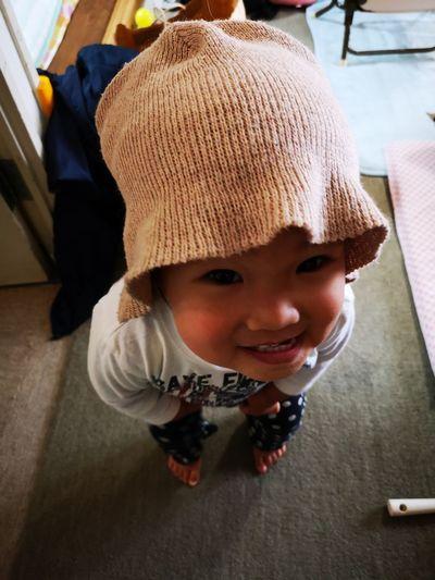 Portrait of smiling boy in hat