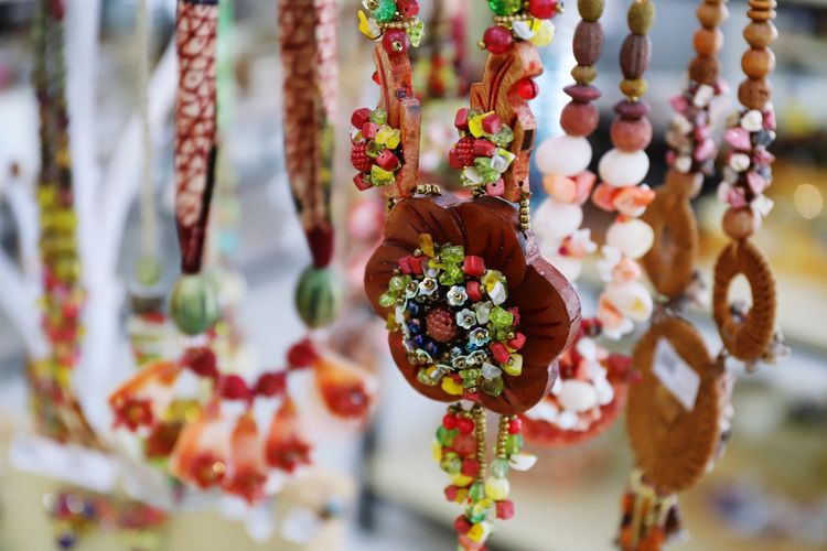 Close-up of decoration for sale at market stall