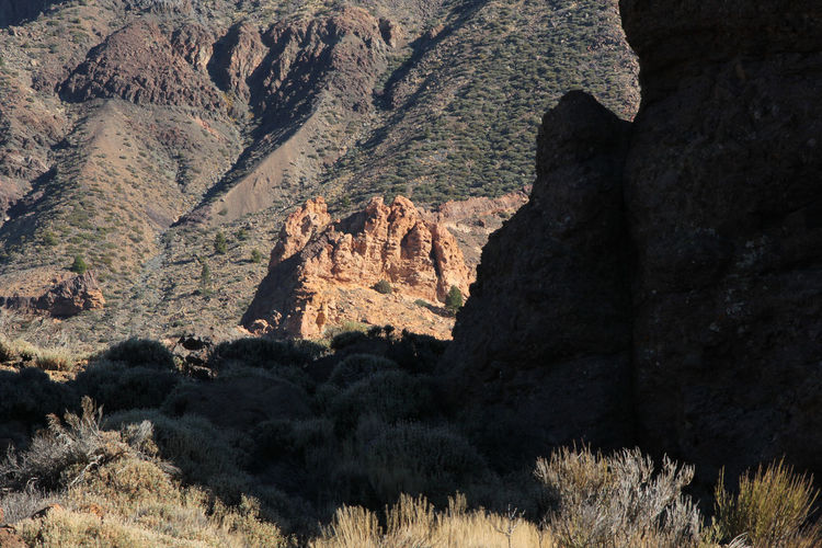 Beauty In Nature Cliff Day Geology Landscape Los Roques Mountain Nature No People Outdoors Physical Geography Rock - Object Rock Formation Scenics Teide National Park Tenerife Tranquil Scene Tranquility
