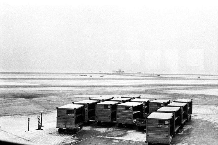 Snowy runway,