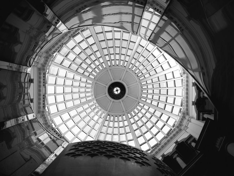 EyeEm Best Shots London United Kingdom Architectural Design Architectural Feature Architecture Black And White Built Structure Ceiling Cupola Day Dome Eye Indoors  Low Angle View No People Travel Destinations Urban