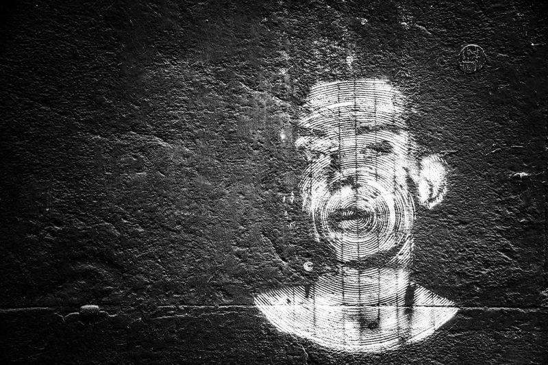 Portrait of man against wall