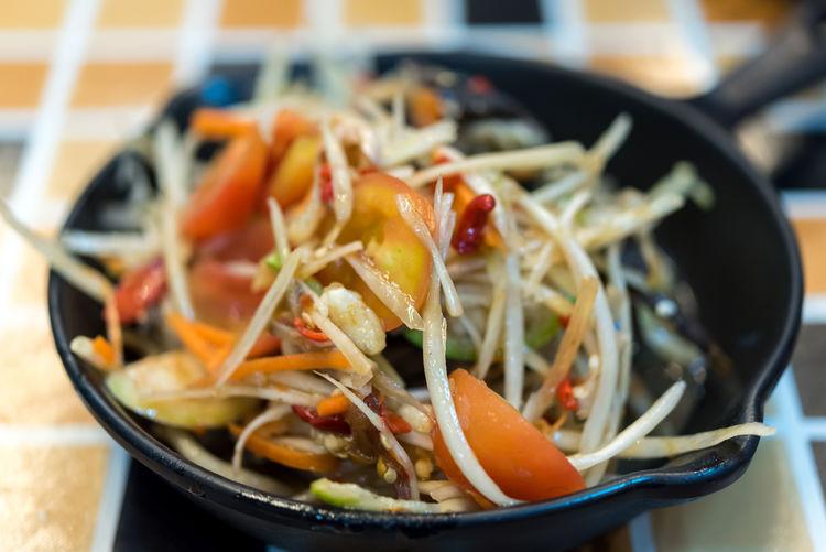 Papaya salad or