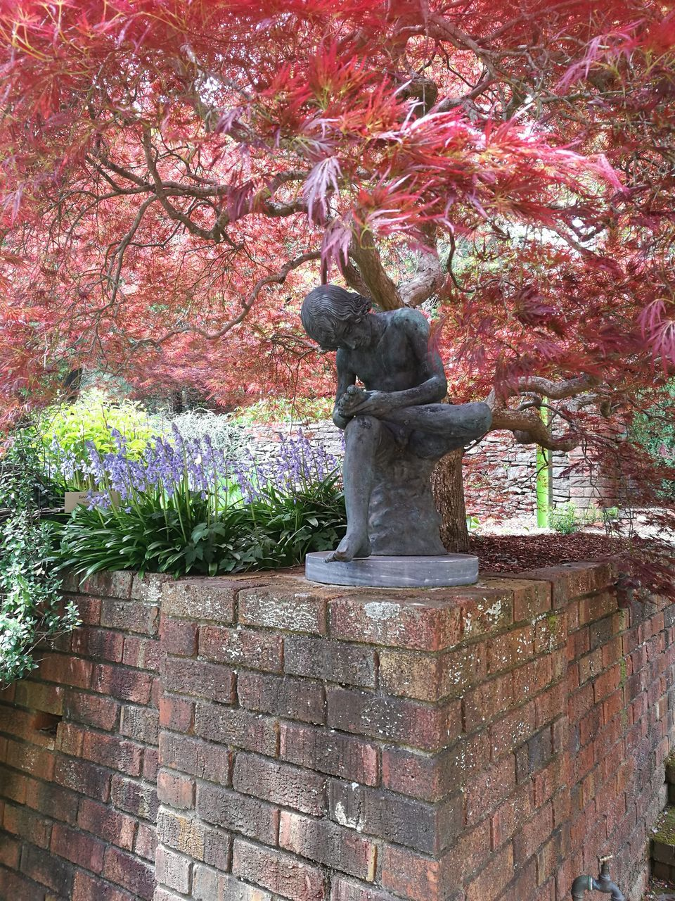 statue, sculpture, tree, no people, day, nature, growth, outdoors, beauty in nature, flower
