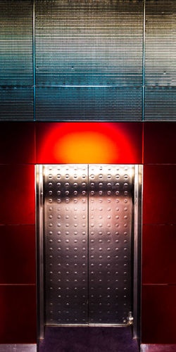 CN Tower - Toronto Elevator Close-up Day Door Illuminated Indoors  Metal Multi Colored No People Steel