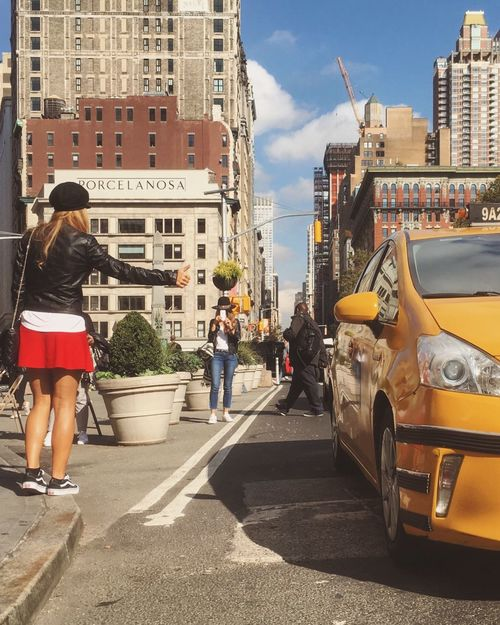 Hitchhiking Taxi New York City Street Photography Street Fashion