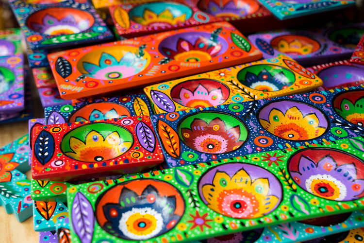 Chichicastenango Chichicastenango Market Scene Chichicastenango, Guatemala Guatemala Market Wood Art And Craft Close-up Colorful Creativity Cultures Day Design Full Frame Guate Multi Colored Tradition Variation