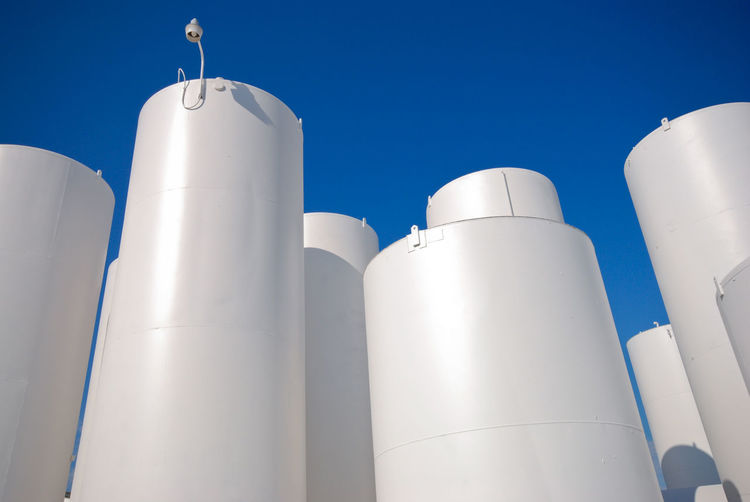 Storage tanks at a propane facility