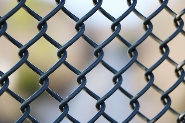 Metal Protection Security Fence Pattern Chainlink Fence Focus On Foreground Full Frame No People Outdoors Backgrounds Close-up