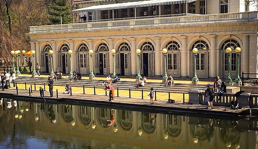 Boathouse Historical Building Landmark Water Water Reflections Waterview Lamposts People Streetphotography People Watching Fun Urban Oasis Brooklyn Prospect Park Taking Photos Outdoors Sunday Afternoon Enjoying Life Wideangle Lens ❤️Brooklyn Renewal  Refurbished Relaxing Beauxarts Balcony