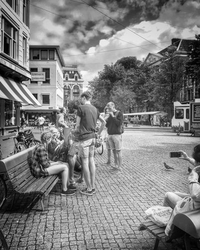 SundayFunday in Spuiplein Amsterdam Streets Amsterdam_bnw