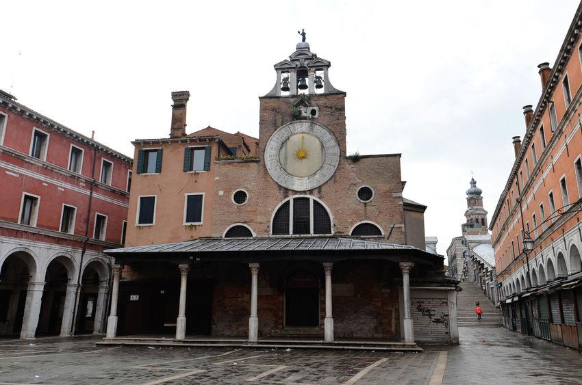 Rialto Market, Venice, Italy Italia Market Venezia Venice, Italy Architecture Building Exterior Built Structure City Clock Clock Tower Day Italy No People Outdoors Rialto Market Sky Venice