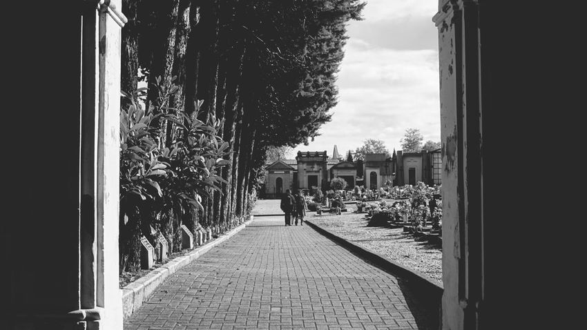 Persone che camminano in un viale. Architecture 50mm Person Silhouette Vintage Photo Taking Photos Dramatic Angles Clear Sky New Talents Hanging Out EyeEm Best Shots