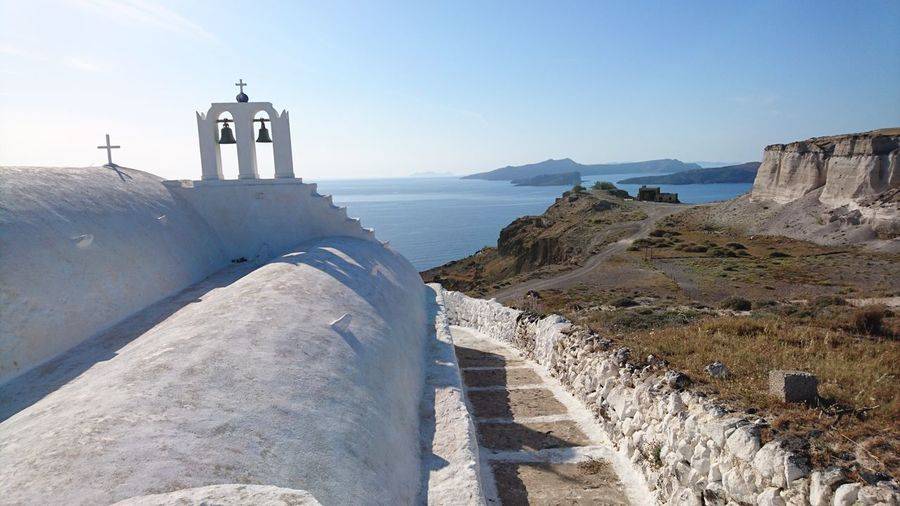 Sky Water Nature Sea Church Ocean Outdoors Santorini, Greece