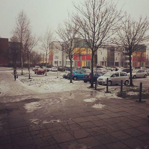schnee fast weg, aber glaaaaaaatt wie sau^^ Stralsund