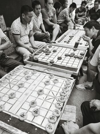 Men Lifestyles Leisure Activity Street Photography Chinese Chess Chess Fun Games