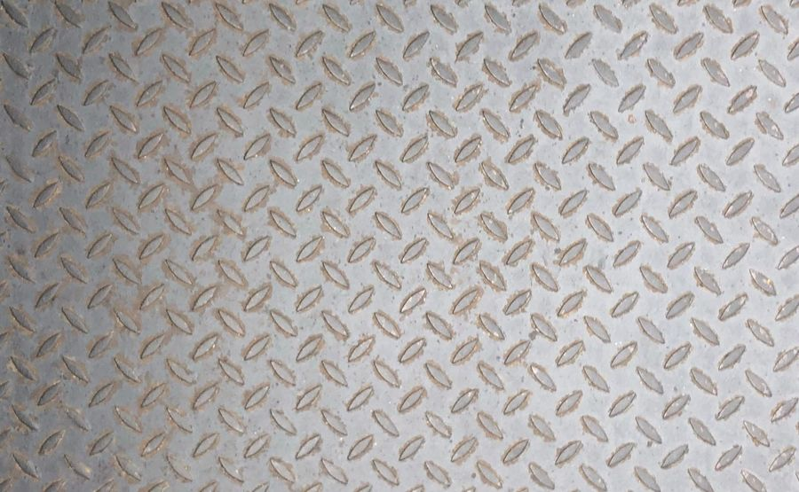 Texture Metal Metal Checkered Plate Used Grey Color Checker Plate Steel Checker Plate Backgrounds Pattern Full Frame Textured  No People Close-up Indoors  Metal Crisscross Abstract Sheet Metal Old