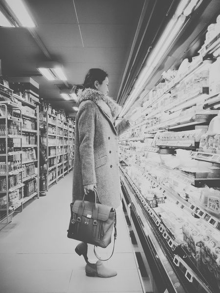 SUPER Market Shopping Streetphoto_bw Black And White