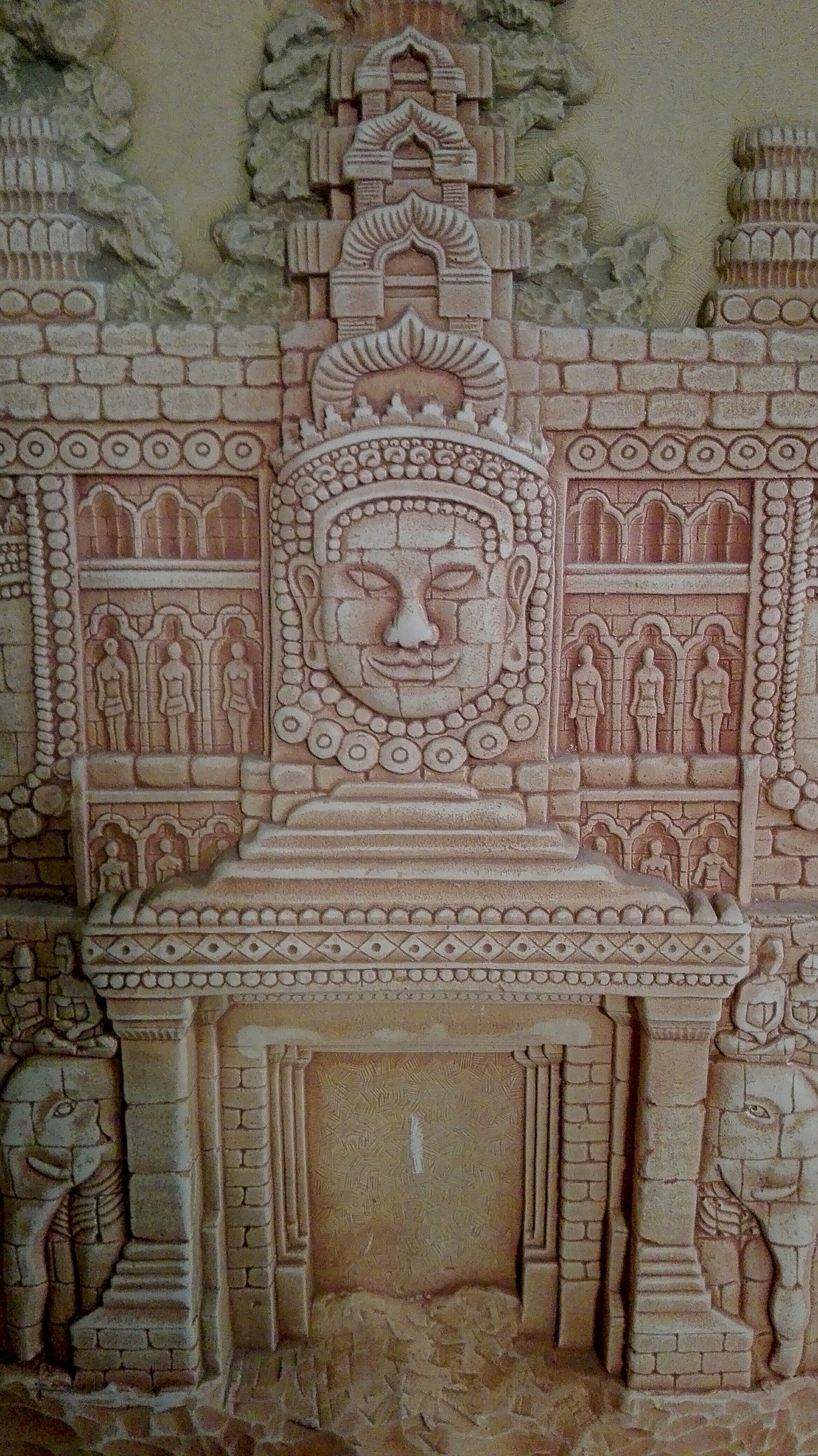 art and craft, art, architecture, creativity, built structure, indoors, ornate, history, ancient, carving, entrance, facade, arch, marble, day, architectural feature, stone, bas relief