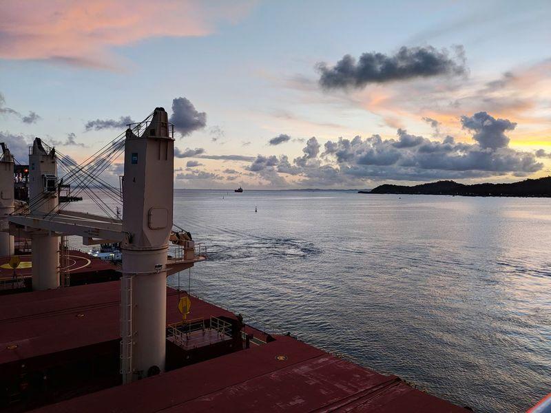 Life Onboard Nautical Theme Cloud - Sky Sea Sky Water Sunset Beach Outdoors No People Horizon Over Water Nautical Vessel