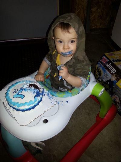I like cake, wanna fight about it? Jacob Son Bambino Birthday Boy ♡ 1 Year Old