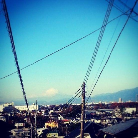 I love how I see Fujisan when I take the hilly route home Mtfuji Totsuka Yokohama