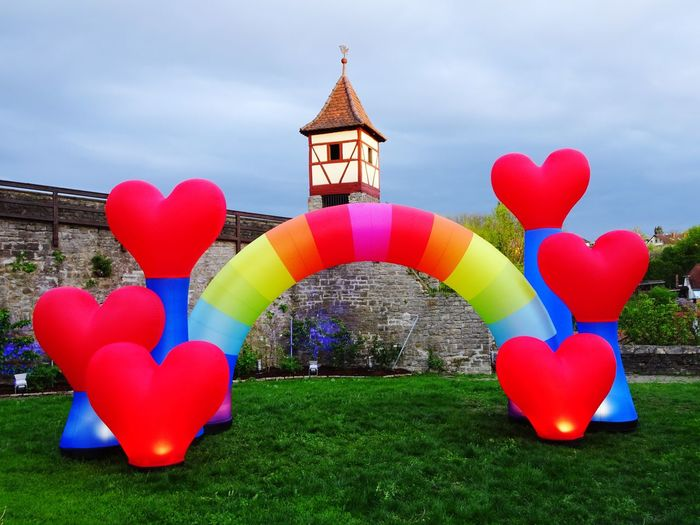 Kunstnacht in Bad Wimpfen Rainbow Colors Rainbow Built Structure Architecture Sky Plant Grass Nature Building Exterior Red Multi Colored Art And Craft