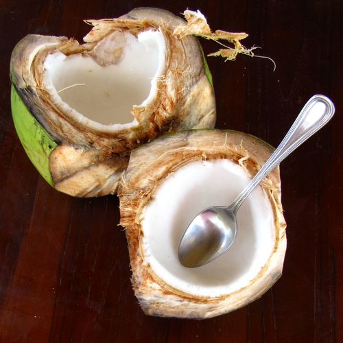 Beach Life Close-up Coconut Coconut Water Food Food And Drink Freshness Fruit Healthy Eating Paradise Simple Photography Spoon Topical Vacation Vegan Live For The Story Food Stories
