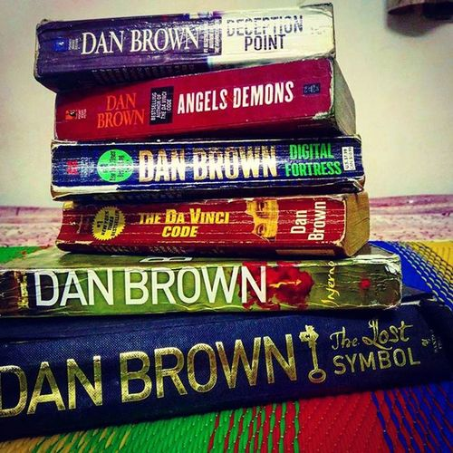 Some of the best books ever read 😘BooksLove Bigfan DanBrown
