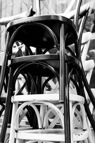 Chairs Close-up Closing Time Coffee Shop Coffee Table Seats Stacked Chairs Stacking Chairs Stühle Terrasse