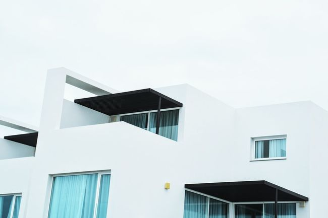 Rooftop Geometry Windows David Hockney Shapes Modernism Simplicity White And Blue Square White Sky Clean Minimalism